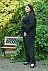Женский брючный костюм с жакетом в больших размерах 10uk984, фото 6
