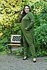 Трикотажный легкий женский кардиган на запах в батале 10uk985, фото 2