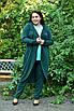 Трикотажный легкий женский кардиган на запах в батале 10uk985, фото 3