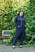 Трикотажный легкий женский кардиган на запах в батале 10uk985, фото 4