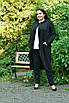 Трикотажный легкий женский кардиган на запах в батале 10uk985, фото 5