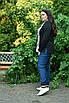 Женская кофта из трикотажа в батале 10uk992, фото 3