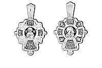 Крест серебряный Господь Вседержитель. Табынская икона Пресвятой Богородицы 8839-R