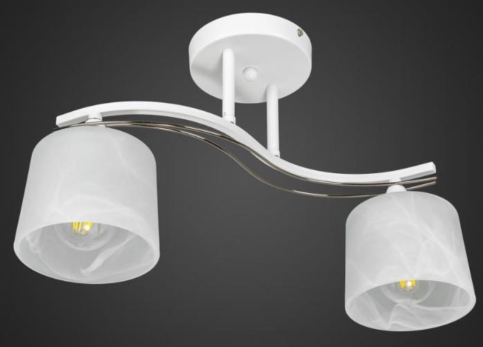 Люстра белая двойка хай-тек AR-004548