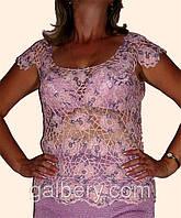Вязаная крючком летняя блуза большого размера