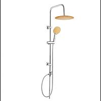 Душевой гарнитур с верхним душем Invena Kameleon AU-26-005 хром/оранжевый