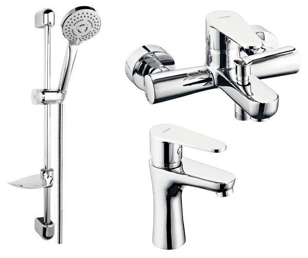 Набор смесителей для ванны 3 в 1 BAG2+BAG1+N340 Ferro Algeo хром