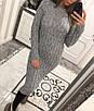 Вязаное платье миди с длинным рукавом 33ty1941, фото 2
