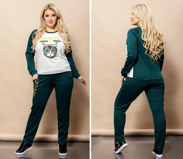 Женский спортивный костюм в больших размерах с рисунком 38uk1086