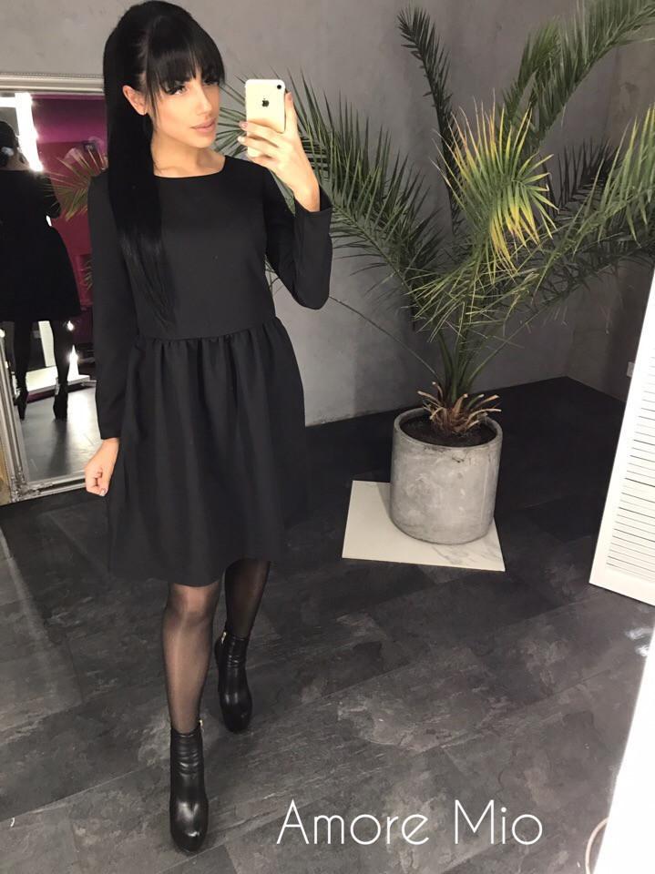 Платье с пышной юбкой и длинным рукавом 73ty1987