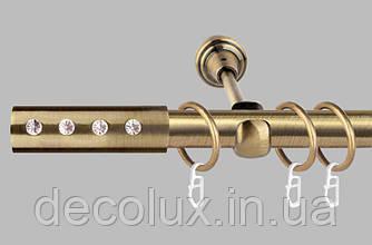 Карниз для штор однорядный металлический 19 мм, Алюр  (комплект)