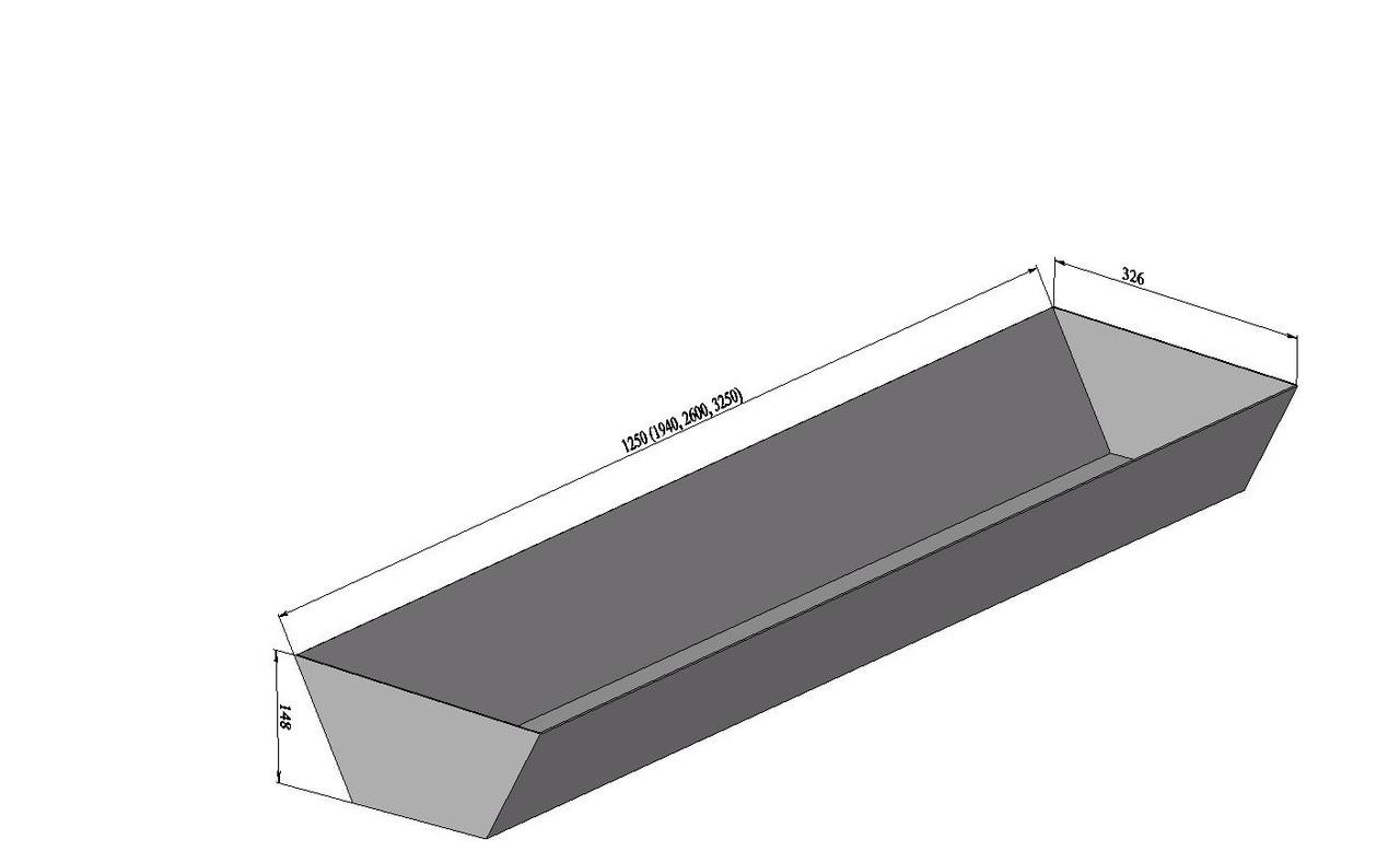 Кормушка. Размеры (Д х Ш х В): Lх 330 х 150 мм