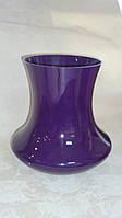 Ваза стеклянная большая темно фиолетового цвета 32 см, фото 1