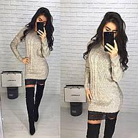 Женское вязаное платье-туника (3 цвета), фото 1