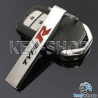 Металлический брелок для авто ключей Honda Type R (Хонда)