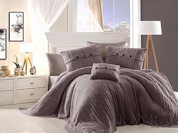 Постельное белье эксклюзивное с вязаными подушками First Choice Nirvana Excellent