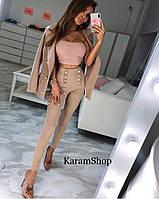 Женские стильные  брюки с высокой посадкой (2 цвета), фото 1