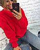 Теплый женский свитер свободный с горловиной 3dm458, фото 4