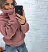Теплый женский свитер свободный с горловиной 3dm458, фото 5