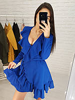 Женское шикарное платье с рюшами на запах (2 цвета), фото 1