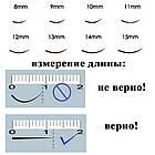 Ресницы Nagaraku Черные 0,07С 12 мм. в Планшетке 16 линий, фото 4