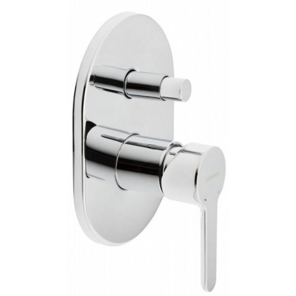 Смеситель скрытого монтажа ванна/душ с переключателем Genebre Oslo 65116 19 45 66 хром