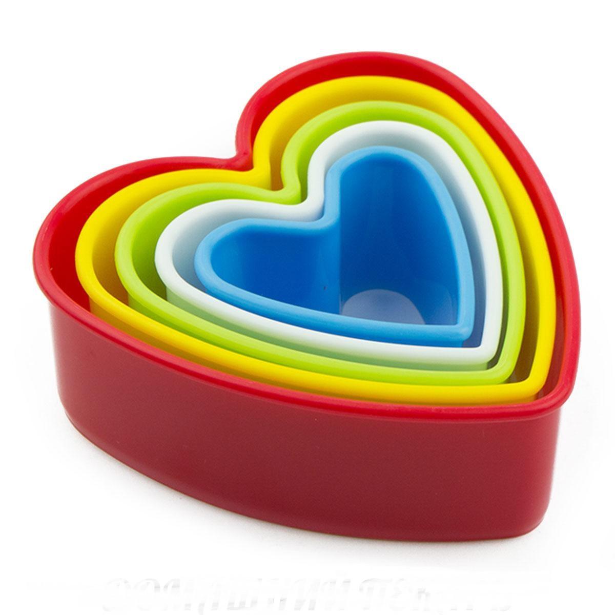 "Набор цветных вырубок ""Сердца"" 5шт. Галетте -02330"