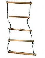 Лестница веревочная 190см, дерево