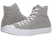 f993a55f2e5e Кеды Converse Chuck Taylor® All Star® Essential Terry Hi Gray White White -  Оригинал