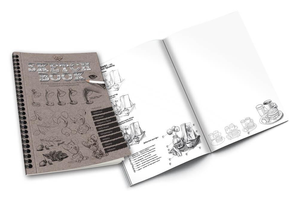 "Набор креативного творчества ""SKETCH BOOK"" (40) | Скетчбук"