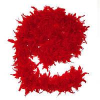 Боа из перьев 40г красное