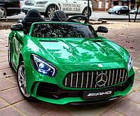 Двухместный детский электромобиль Mercedes Лицензия Кожа EVA, 4 мотора, Амортизаторы дитячий електромобіль