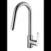 Смеситель для кухонной мойки с вытяжным изливом Invena Elia BZ-89-W01 хром