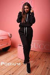 Женский утепленный спортивный костюм с капюшоном