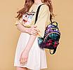 Рюкзак женский с пайетками и бантом Giaopixiong Синий, фото 3