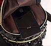 Рюкзак женский с пайетками и бантом Giaopixiong Синий, фото 8