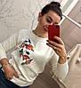 Женский модный свитер с вышивкой (2 цвета)