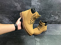 Мужские зимние ботинки Timberland горчичные,на меху 45р, фото 3