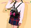 Рюкзак детский с пайетками и бантом Giaopixiong Черный, фото 3