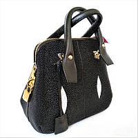 Женская сумка из кожи ската (STB 7980 Black)