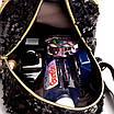 Рюкзак женский с пайетками и бантом Giaopixiong Белый, фото 6