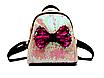 Рюкзак женский с пайетками и бантом Giaopixiong Белый, фото 2