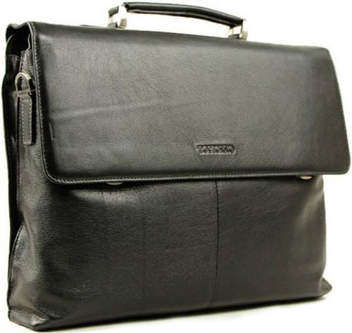 Стильный, мужской портфель из кожи Тоfionno 05123-1 черный