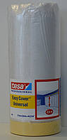 Защитная пленка c клейкой лентой на бумажной основе tesa 4368 easy cover universal 17м *2600 мм