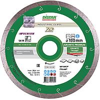 Круг алмазный Distar 1A1R Granite Premium 180 мм сплошной отрезной диск по граниту и керамограниту, Дистар