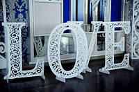 Объемные буквы для свадьбы.Свадебная декорация из дерева.