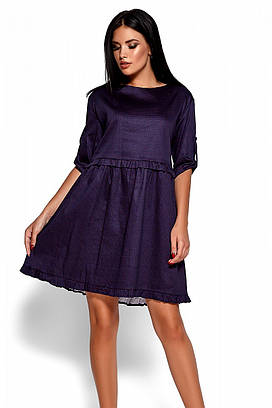 (S, M, L) Стильне фіолетове коротке плаття Jita
