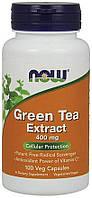 NOW Green Tea Extract 100 caps, НАУ Зелёный Чай 100 капсул
