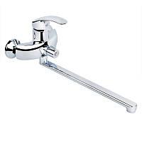 Смеситель для ванны с длинным изливом Q-tap Mars CRM 005 NEW хром