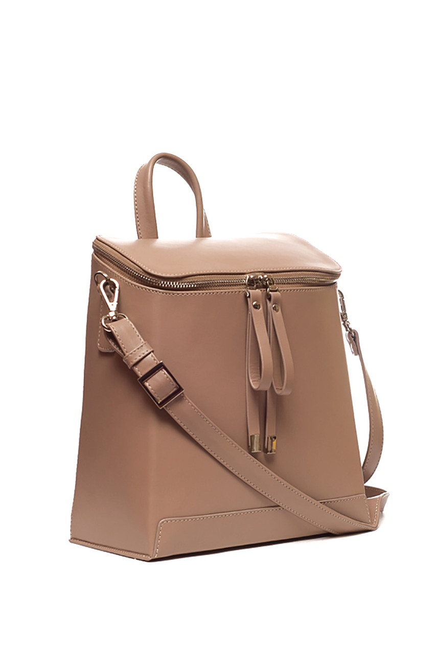 0b6dfd677d30 Трансформер сумка - рюкзак, итальянская кожа. Цвет Какао. Модель зима 2018/ 2019